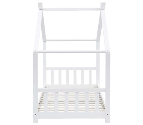 vidaXL Vaikiškos lovos rėmas, baltas, 90x200cm, pušies masyvas[4/8]