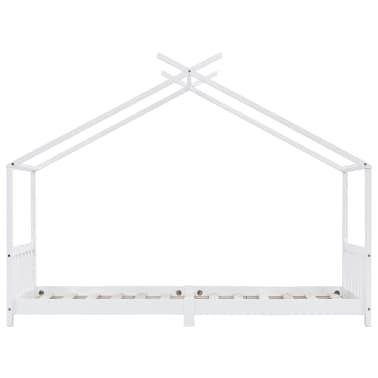 vidaXL Vaikiškos lovos rėmas, baltas, 90x200cm, pušies masyvas[3/8]