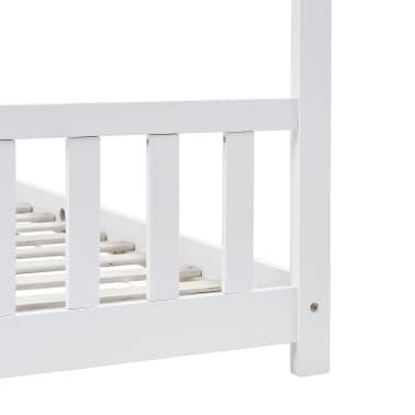vidaXL Vaikiškos lovos rėmas, baltas, 90x200cm, pušies masyvas[6/8]