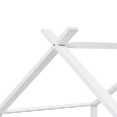 vidaXL Vaikiškos lovos rėmas, baltas, 90x200cm, pušies masyvas[7/8]