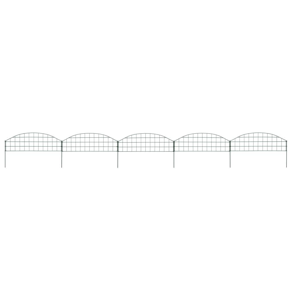 Obloukový plot k jezírku 77,3 x 26 cm zelený