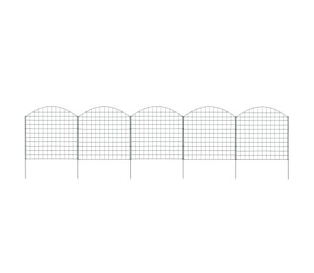 vidaXL Arched Pond Fence Set 77.5x78.5 cm Green