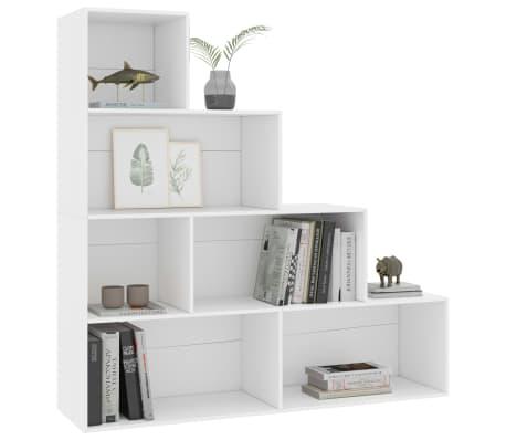 """vidaXL Book Cabinet/Room Divider White 61""""x9.4""""x63"""" Chipboard[3/6]"""