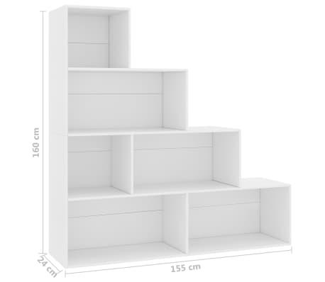 """vidaXL Book Cabinet/Room Divider White 61""""x9.4""""x63"""" Chipboard[6/6]"""