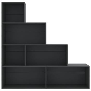 vidaXL Boekenkast/kamerscherm 155x24x160 cm spaanplaat grijs[4/6]