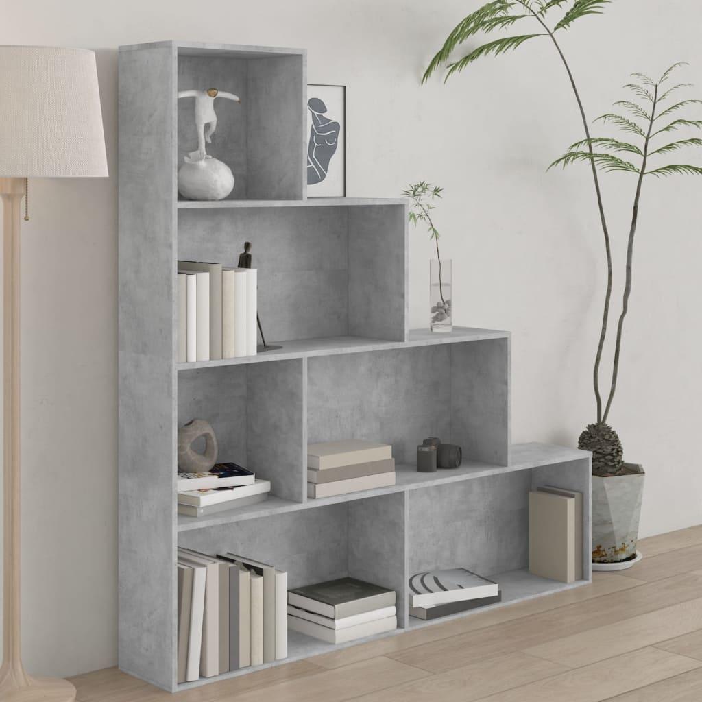 vidaXL Regał na książki/przegroda, betonowy szary, 155x24x160 cm