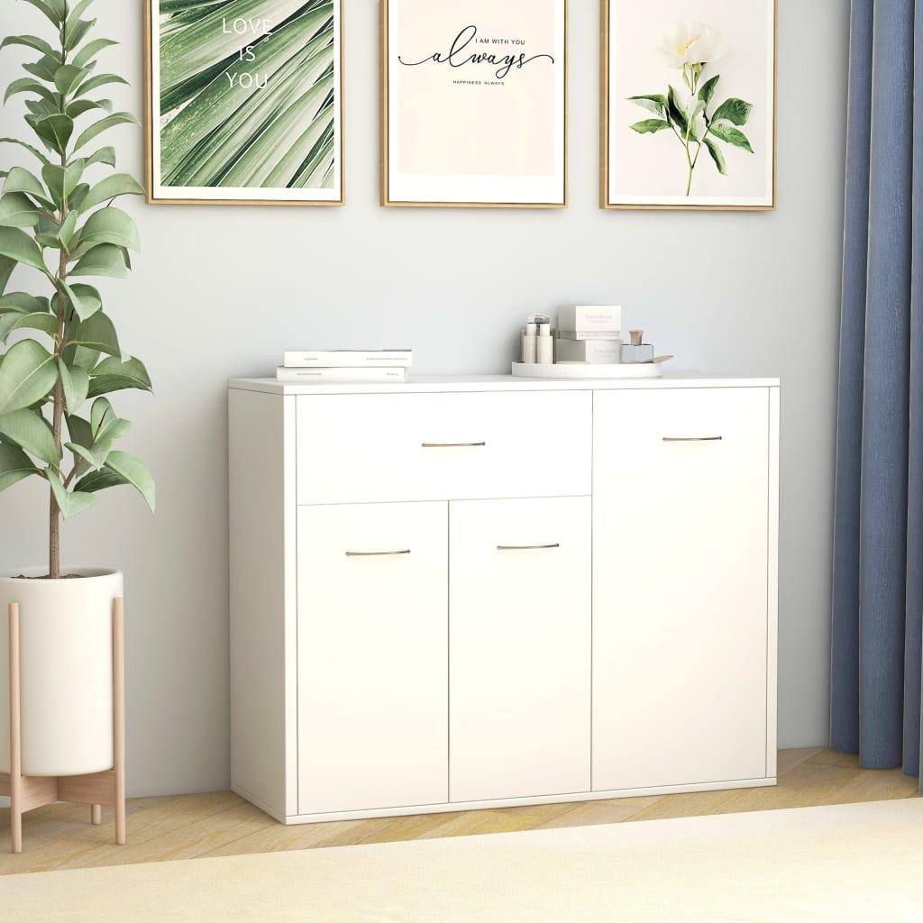 vidaXL Příborník bílý 88 x 30 x 70 cm dřevotříska
