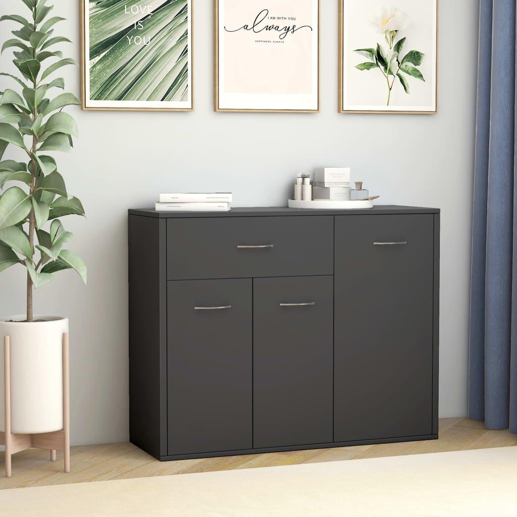 vidaXL Příborník šedý 88 x 30 x 70 cm dřevotříska