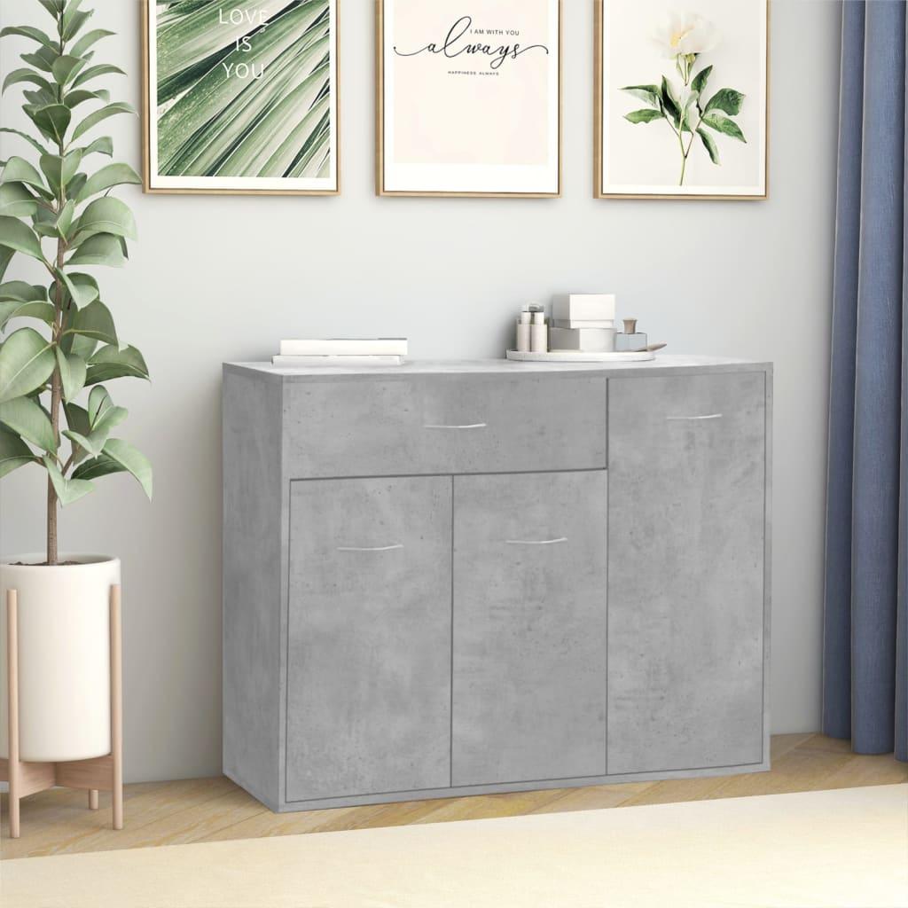 Příborník betonově šedý 88 x 30 x 70 cm dřevotříska