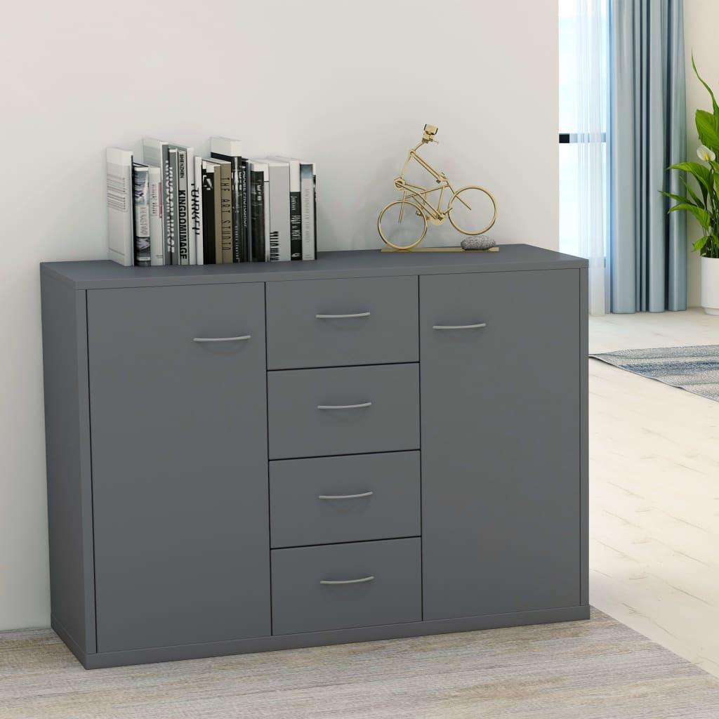 vidaXL Příborník šedý 88 x 30 x 75 cm dřevotříska