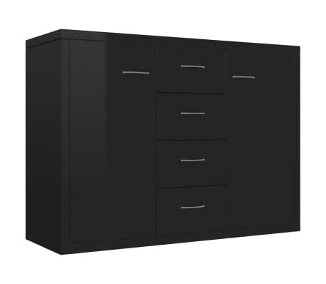 vidaXL Servantă, negru extralucios, 88 x 30 x 65 cm, PAL