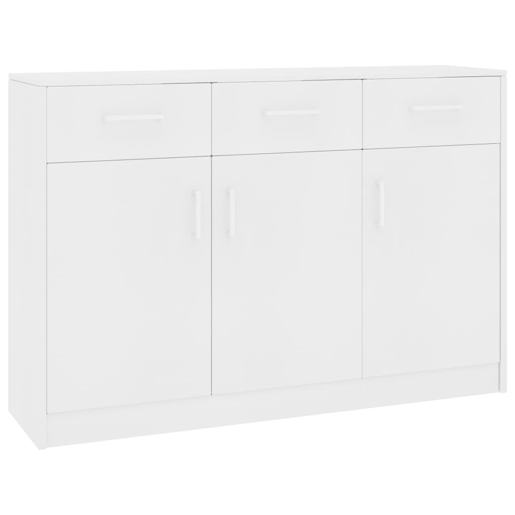 vidaXL Servantă, alb, 110 x 34 x 75 cm, PAL poza vidaxl.ro