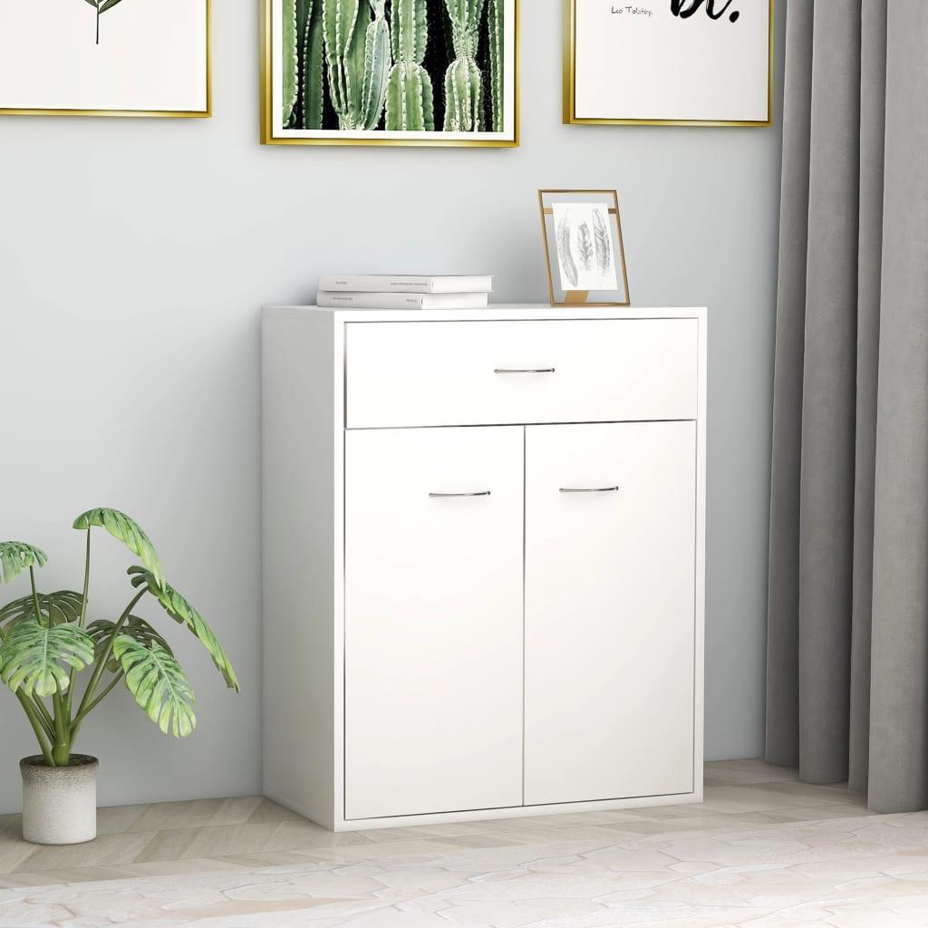 Příborník bílý 60 x 30 x 75 cm dřevotříska