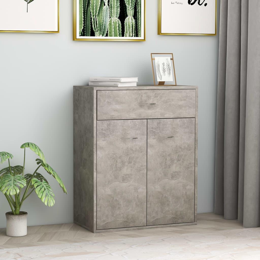 vidaXL Příborník betonově šedý 60 x 30 x 75 cm dřevotříska