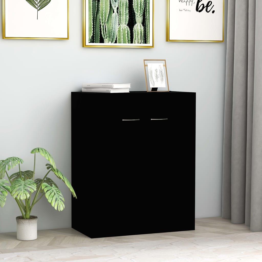 vidaXL Sideboard Black 60x30x75 cm Chipboard