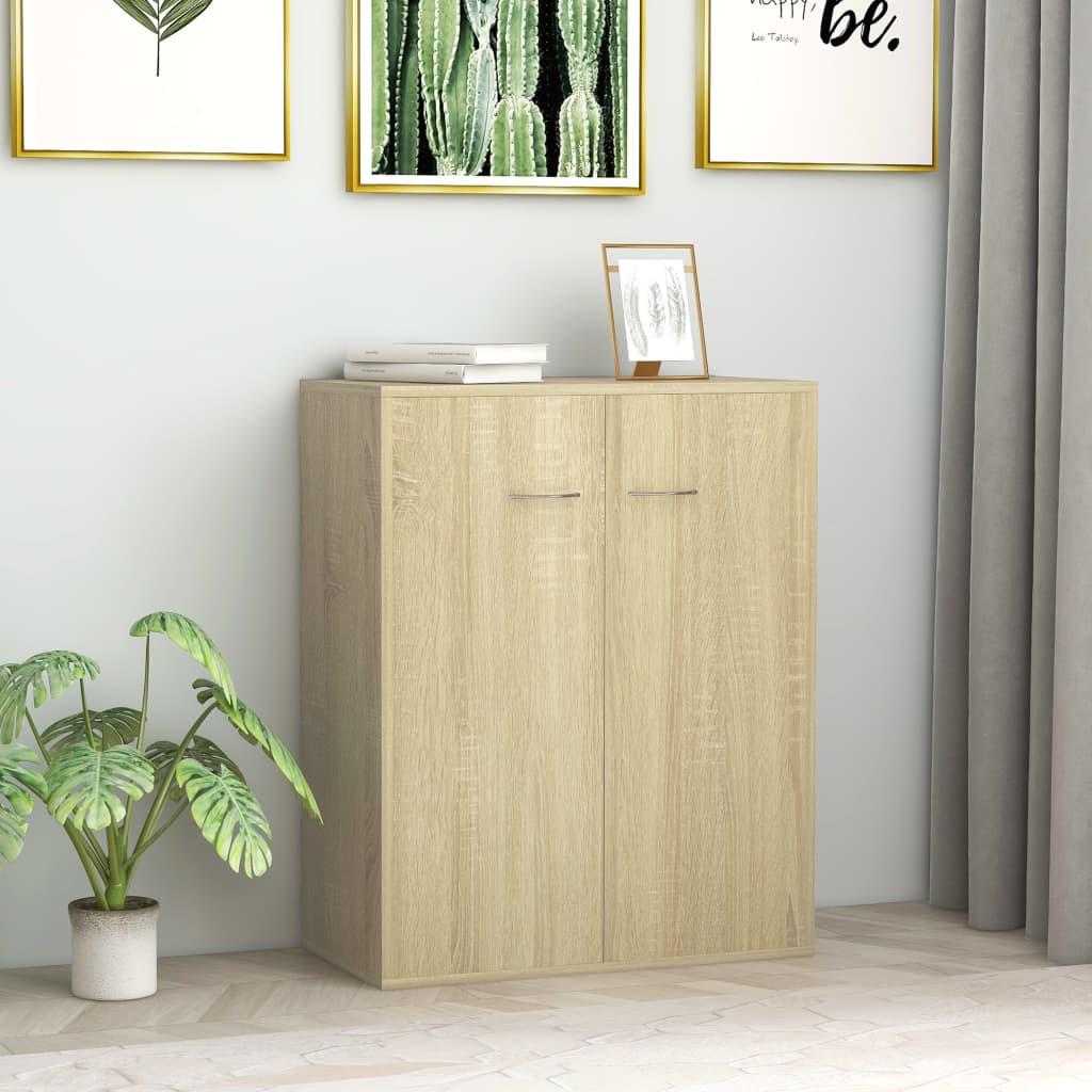 vidaXL Sideboard Sonoma Oak 60x30x75 cm Chipboard