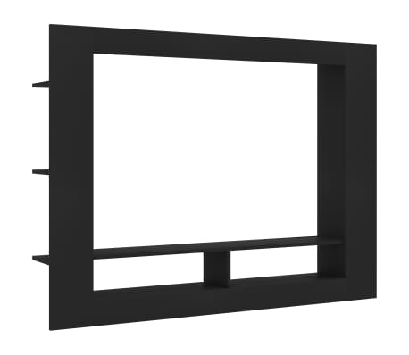 "vidaXL TV Cabinet Black 59.8""x8.7""x44.5"" Chipboard"