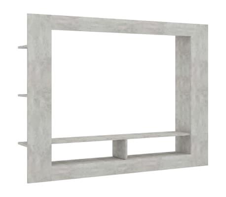 vidaXL Comodă TV, gri beton, 152 x 22 x 113 cm, PAL