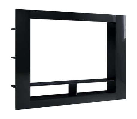 vidaXL Tv-meubel 152x22x113 cm spaanplaat hoogglans zwart