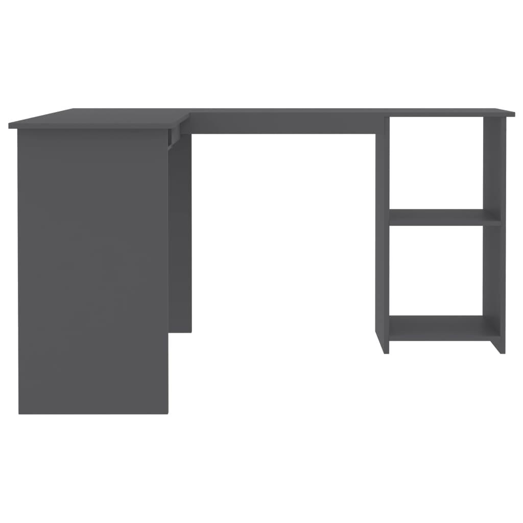L-kujuline nurgalaud hall 120 x 140 x 75 cm puitlaastplaat