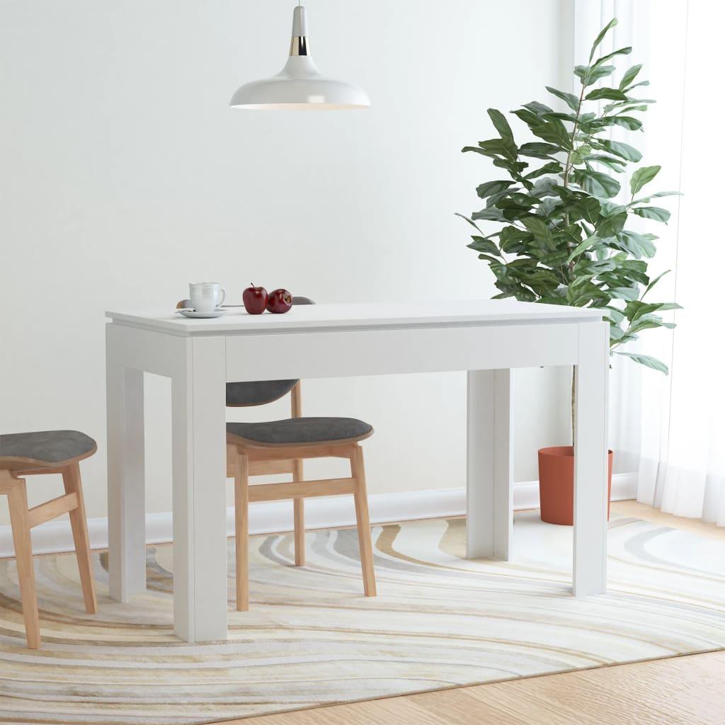 Jídelní stůl bílý 120 x 60 x 76 cm dřevotříska