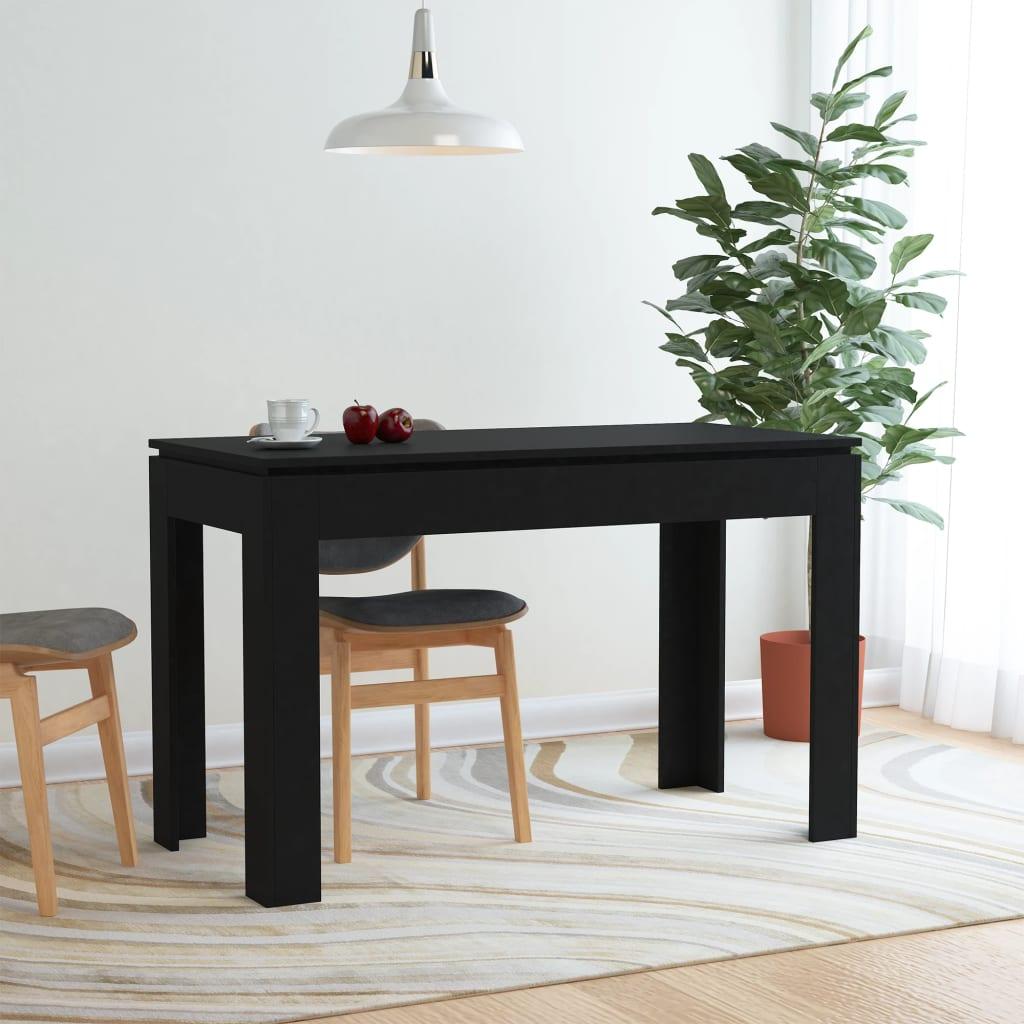 Jídelní stůl černý 120 x 60 x 76 cm dřevotříska