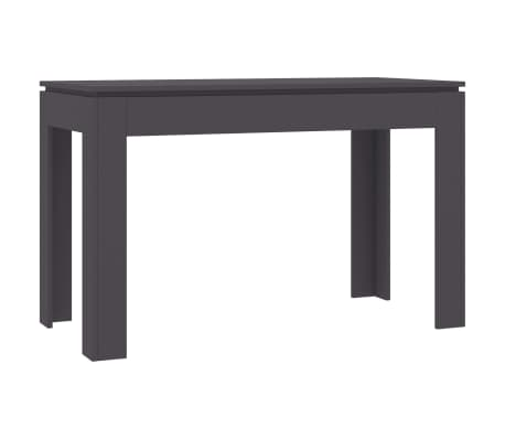 "vidaXL Dining Table Gray 47.2""x23.6""x29.9"" Chipboard"