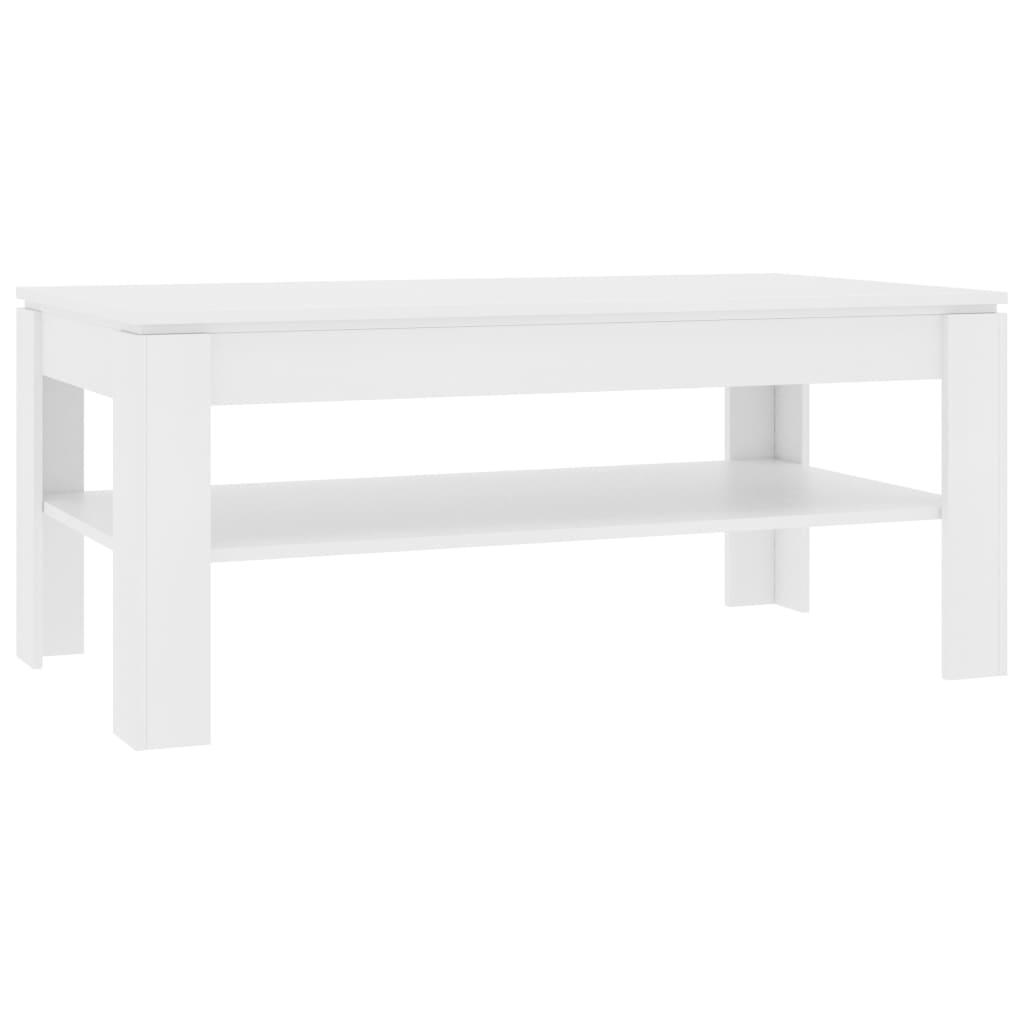 vidaXL Τραπεζάκι Σαλονιού Λευκό 110 x 60 x 47 εκ. από Μοριοσανίδα