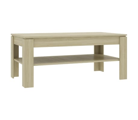 vidaXL Coffee Table Sonoma Oak 110x60x47 cm Chipboard