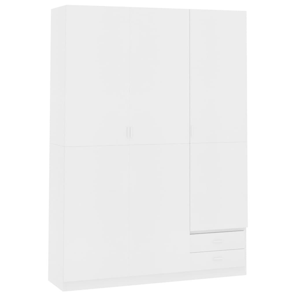 vidaXL Șifonier cu 3 uși, alb, 120 x 50 x 180 cm, PAL poza 2021 vidaXL