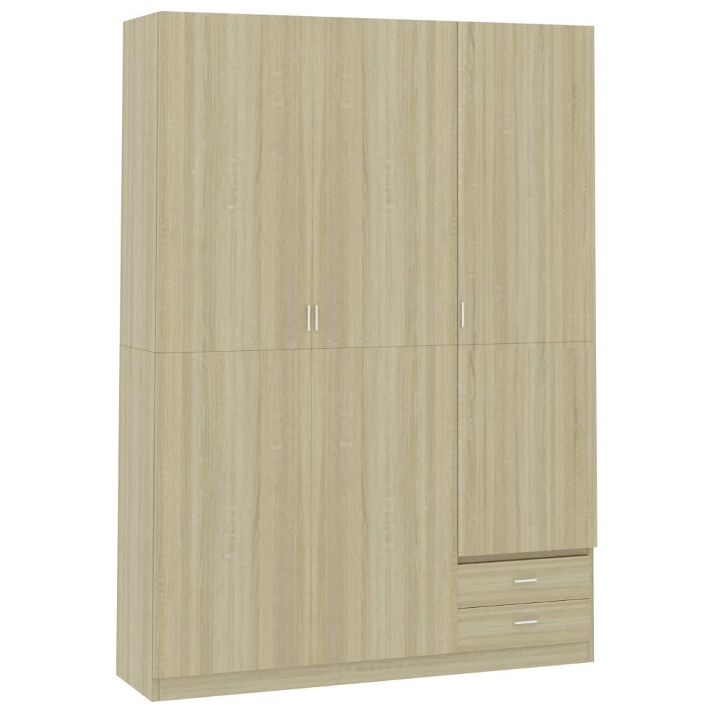 vidaXL Șifonier cu 3 uși, stejar Sonoma, 120 x 50 x 180 cm, PAL vidaxl.ro