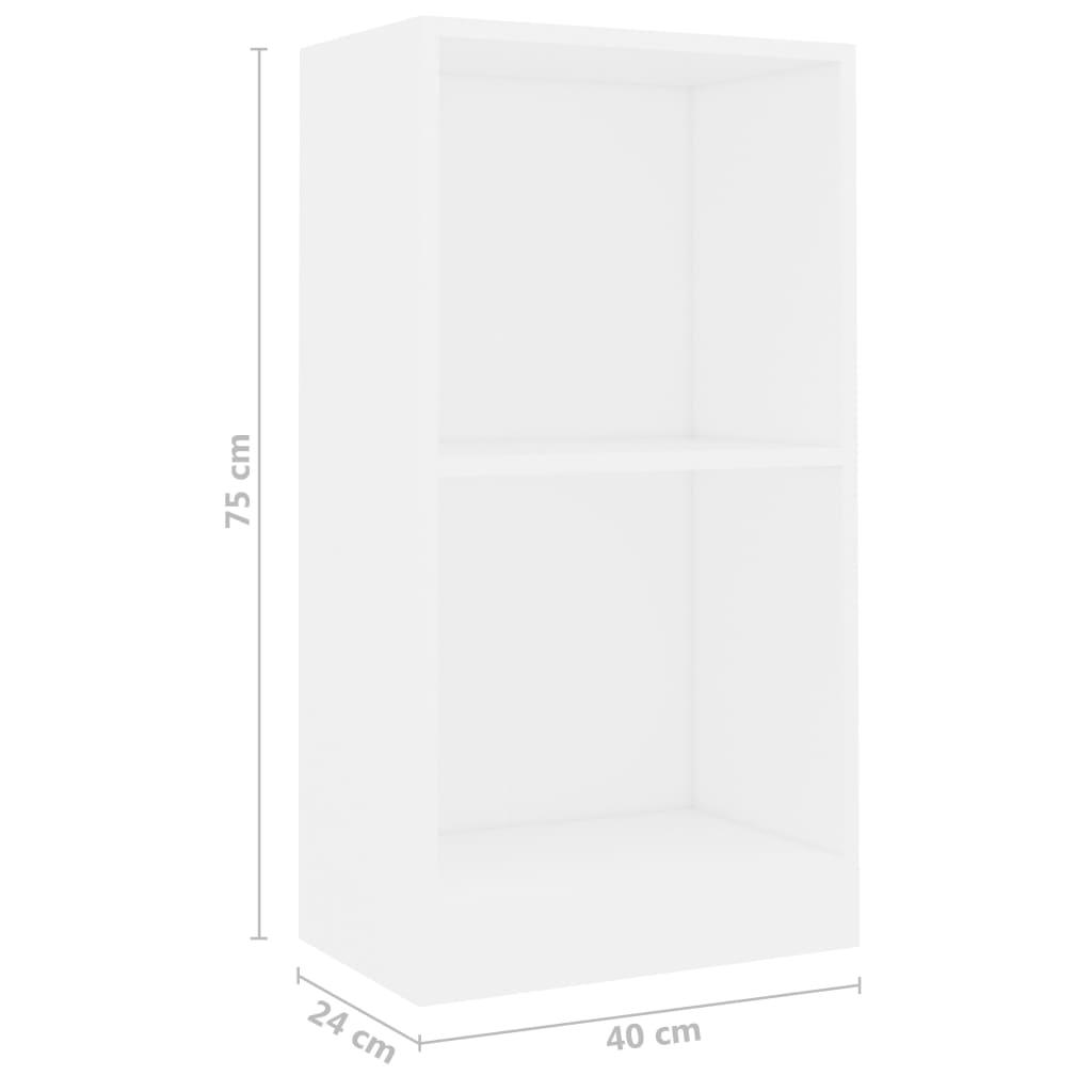 Raamaturiiul, valge, 40 x 24 x 75 cm, puitlaastplaat