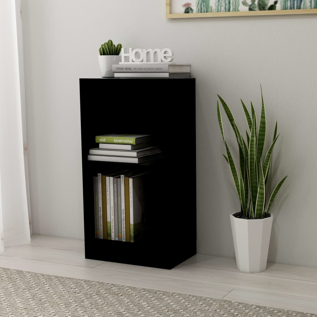 vidaXL Knihovna černá 40 x 24 x 75 cm dřevotříska
