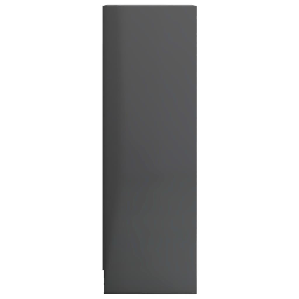 Raamaturiiul, kõrgläikega hall, 40x24x75 cm, puitlaastplaat