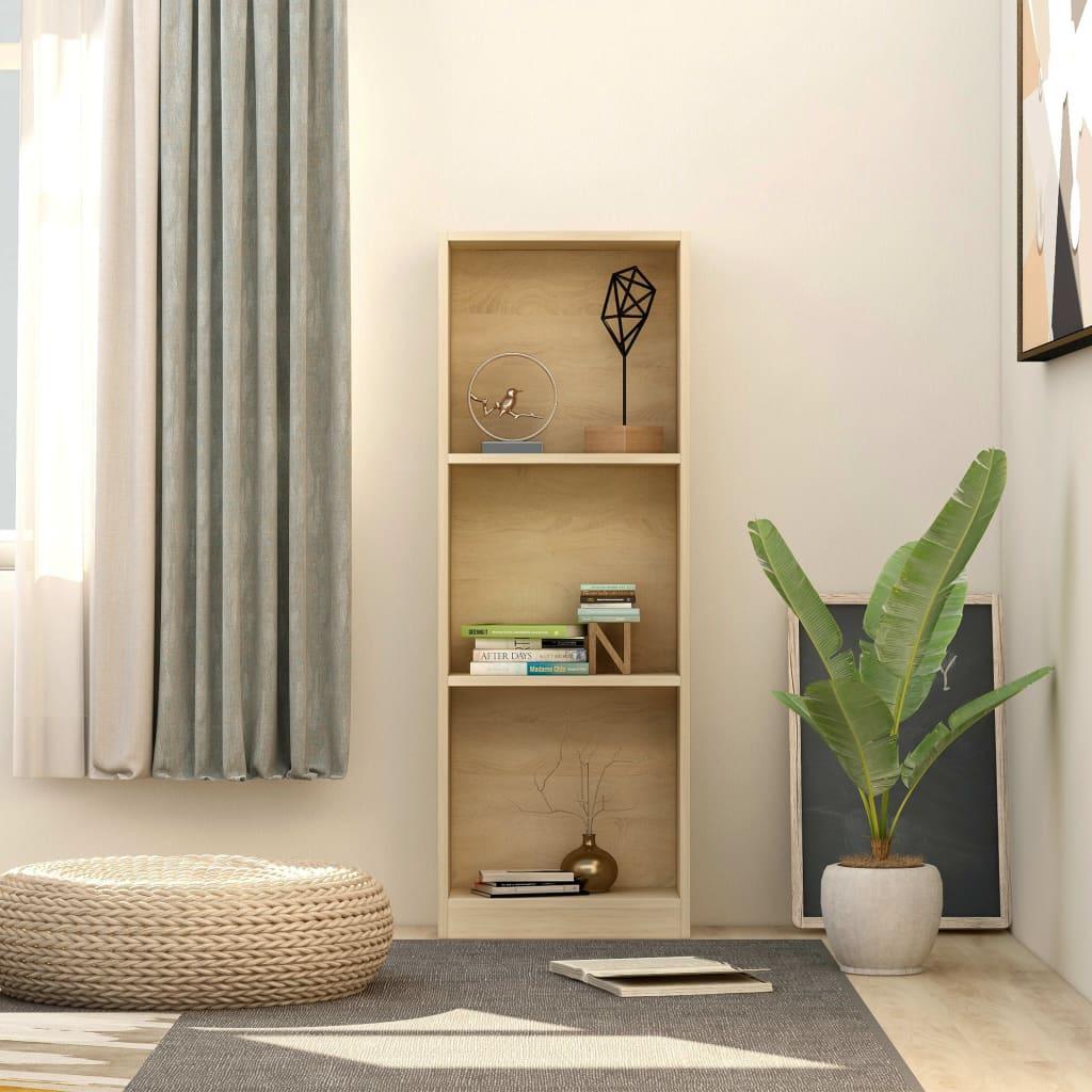 3patrová knihovna dub sonoma 40 x 24 x 108 cm dřevotříska