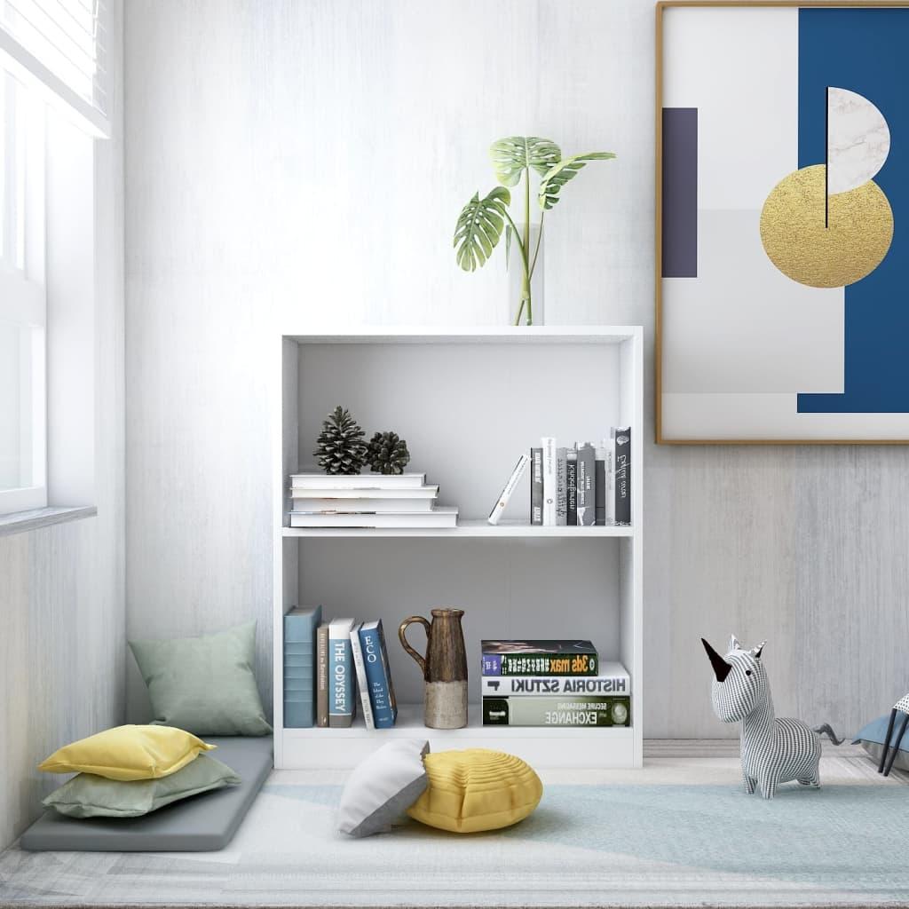 Knihovna bílá 60 x 24 x 74,5 cm dřevotříska