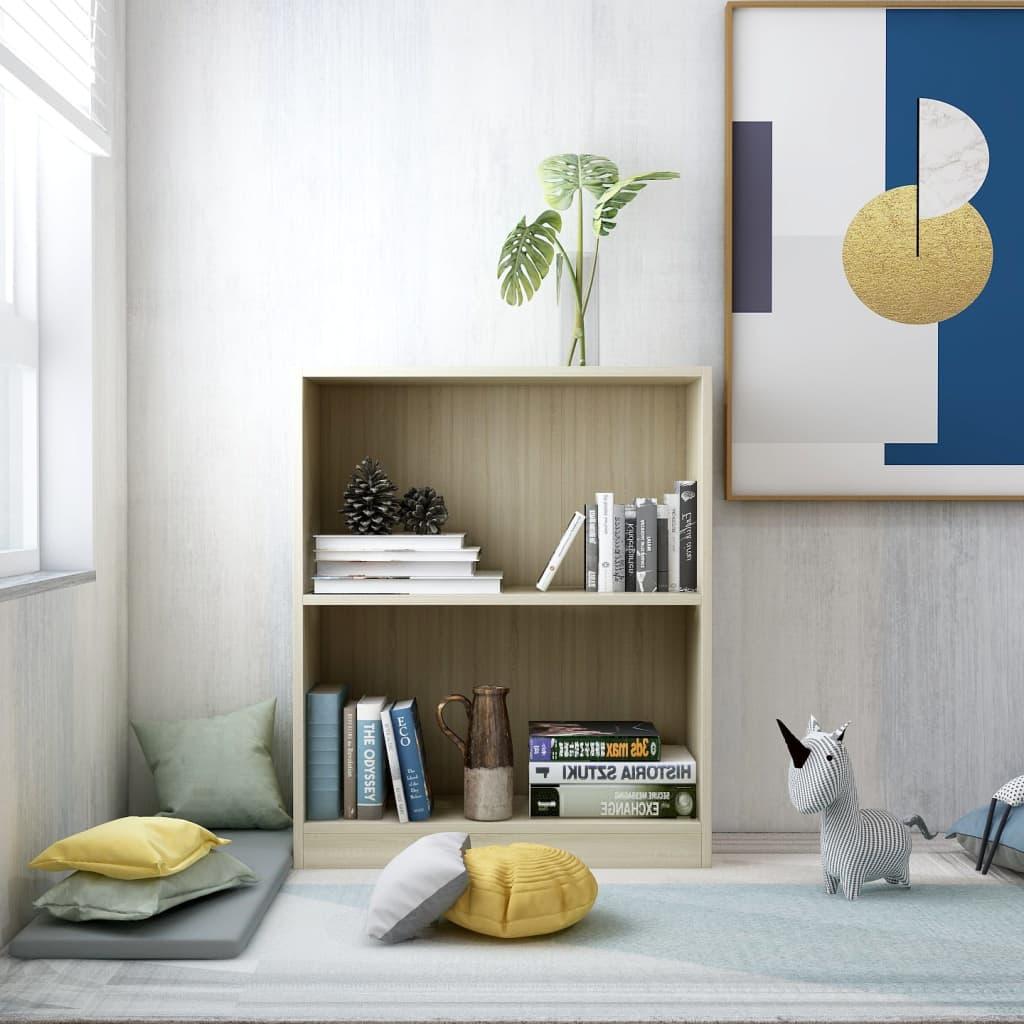 Knihovna dub sonoma 60 x 24 x 74,5 cm dřevotříska