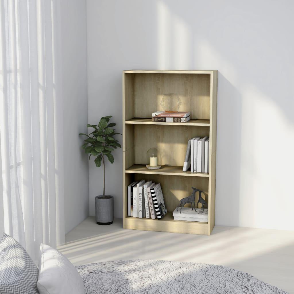 3patrová knihovna dub sonoma 60 x 24 x 108 cm dřevotříska