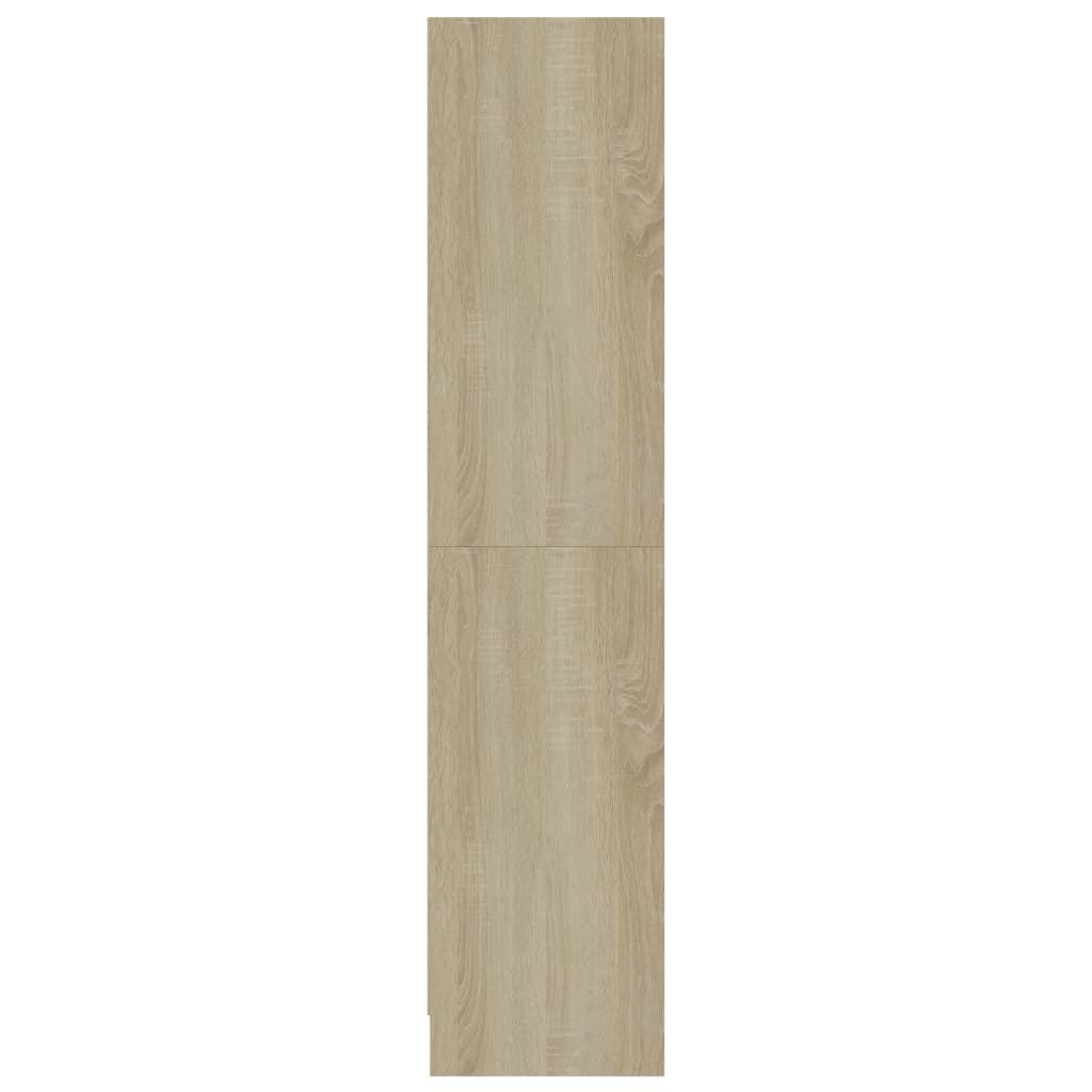 vidaXL Boekenkast 3 schappen 60x24x108 cm spaanplaat wit sonoma eiken