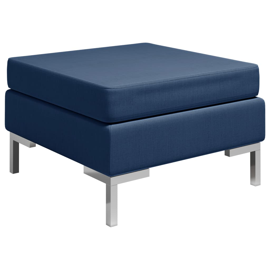 Dílčí podnožka s poduškou textil modrá