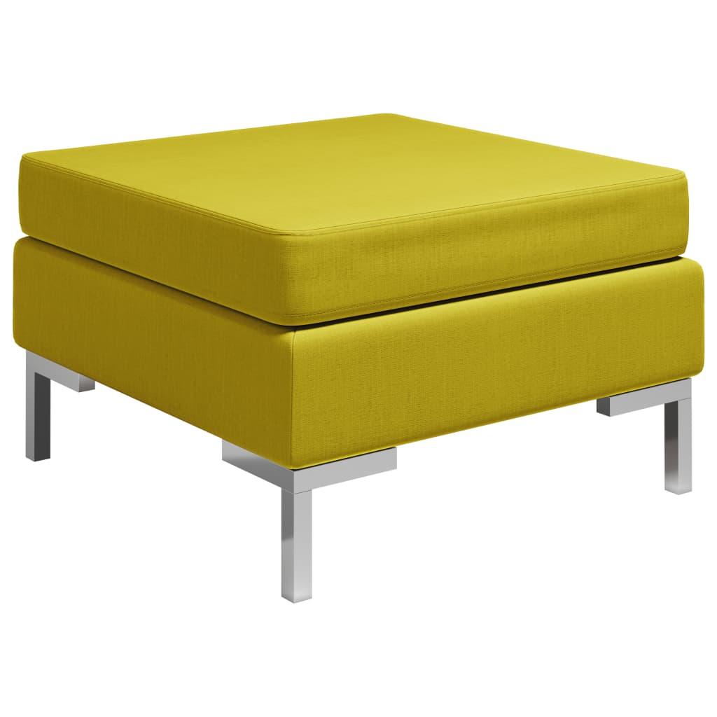 Dílčí podnožka s poduškou textil žlutá