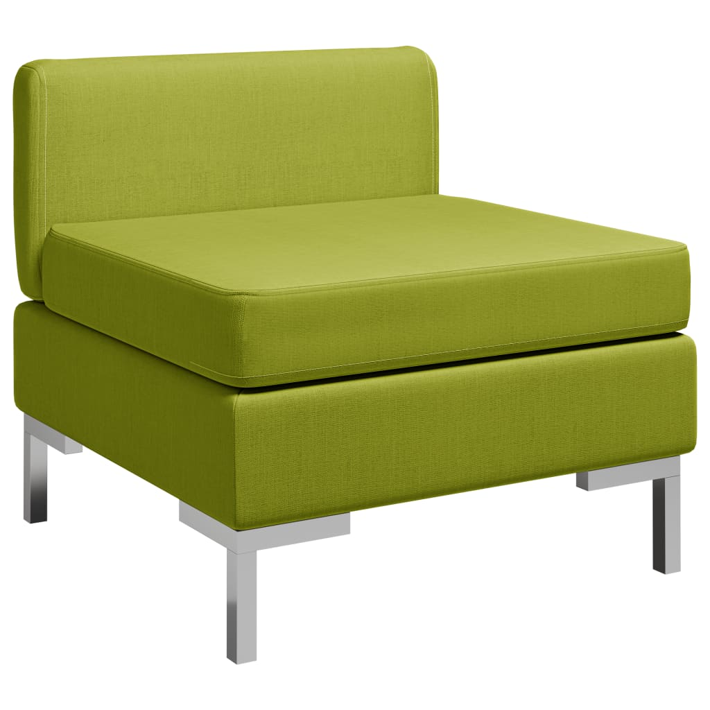 Dílčí středová pohovka s poduškou textil zelená