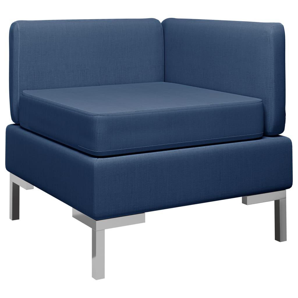 vidaXL Canapea de colț modulară cu pernă, albastru, material textil poza 2021 vidaXL