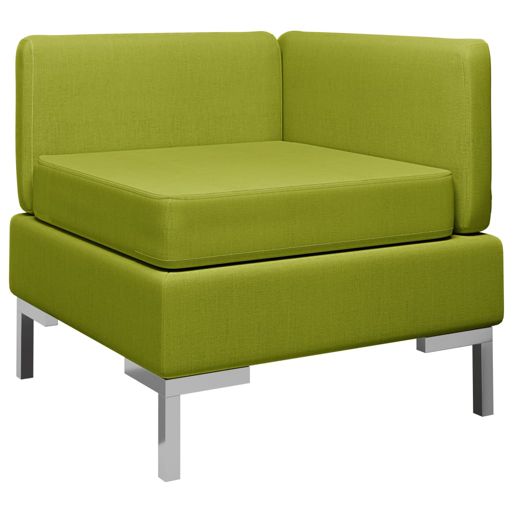 Dílčí rohová pohovka s poduškou textil zelená