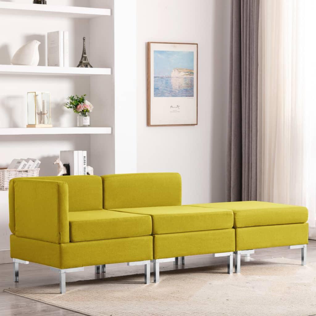 Canapé Jaune Tissu Confort