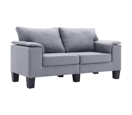 vidaXL 2-Seater Sofa Light Grey Fabric