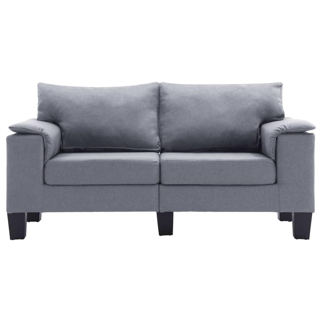 TutiVital L alakú világosszürke szövetkanapé 171,5 x 138 x