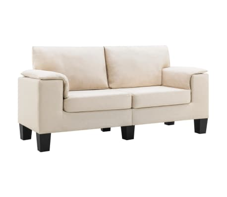 vidaXL 2-Seater Sofa Cream Fabric