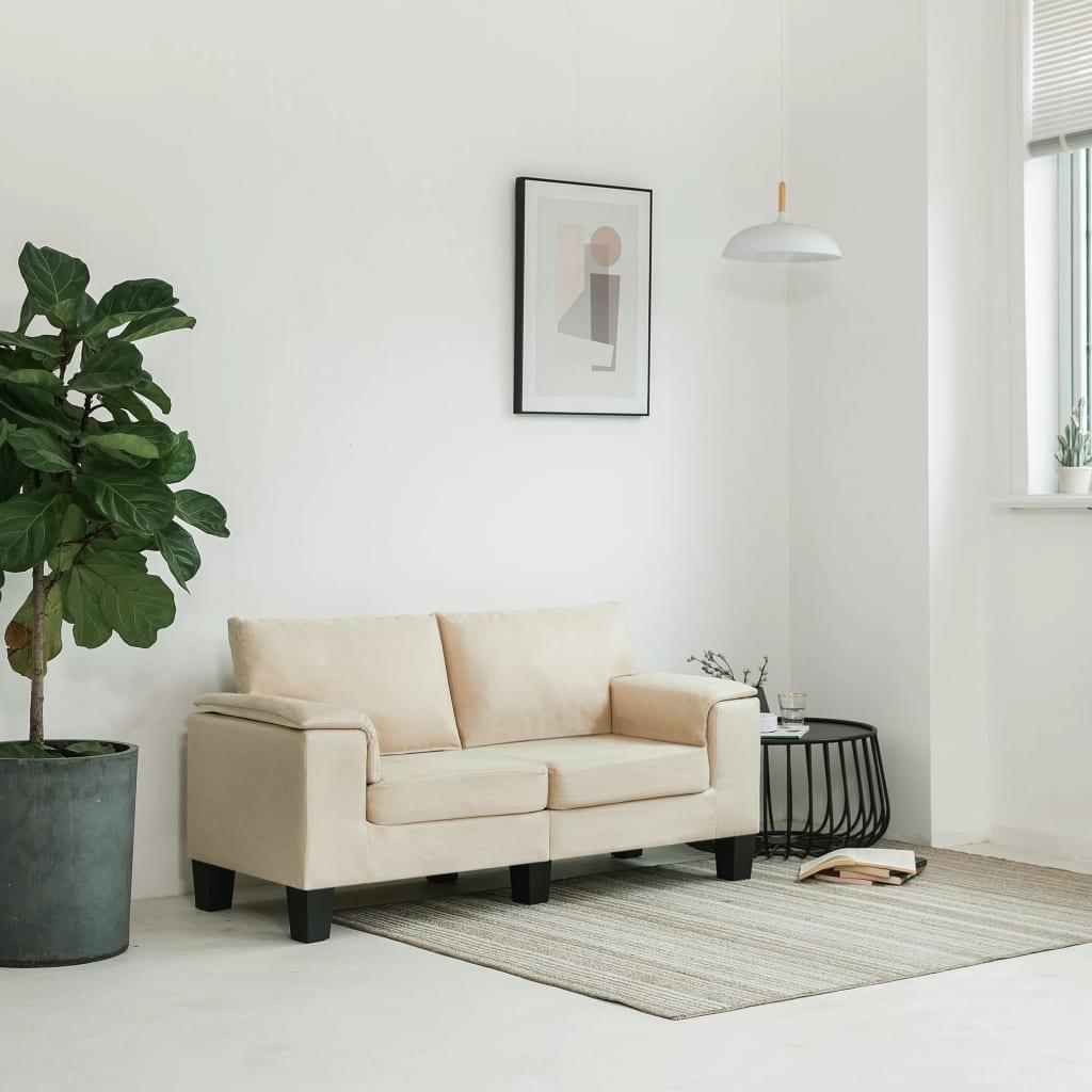 Canapé 2 places Tissu Moderne Confort