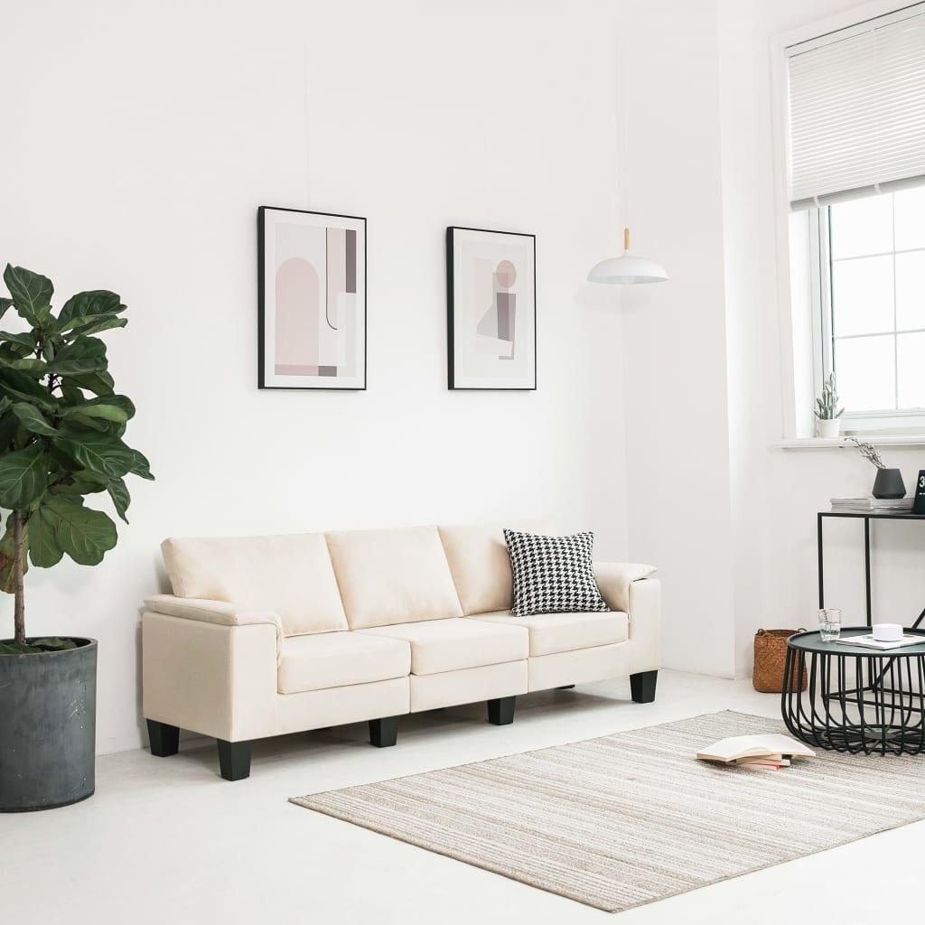 Canapé 3 places Tissu Moderne Confort